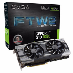 Placa De Vídeo Evga Geforce Gtx 1080 8gb Ftw2 Dt Gaming Icx
