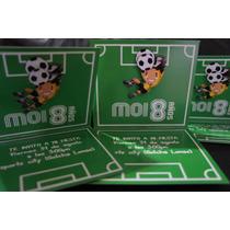 Invitaciones De Futball Para Fiesta Infantil , Originales