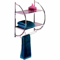 Suporte Prateleira Dupla Para Box Porta Shampoo Toalha Creme