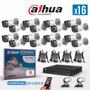 Kit Seguridad Dahua 16 Canales+ 16 Camaras+fuentes+pulpo