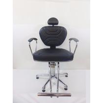 Cadeira Poltrona Laca Fixa-moveis Para Salao Cabeleireiro