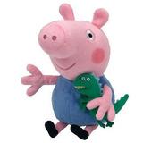 Peluche George De Peppa Pig Ty Beanie Babies Envío Gratis