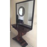 Aparador Com Espelho Em Radica Design Art Decô Sofisticado