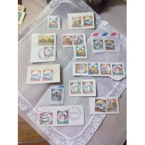 Lúcciac8 Lote 23 Selos Circulados Castelos Italianos