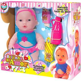 Boneca Bebê Beijinho De Amor Com Acessórios