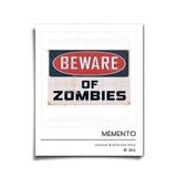 Letrero Beware Of Zombies Lámina Poster Vintage Puerta #0002
