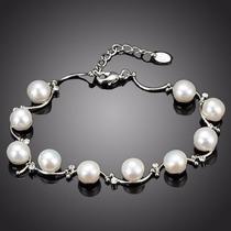 Encantadora Pulsera Con Perlas De Imitación Alta Gama