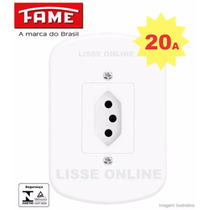 Tomada Completa Kit 10 Unid. 2p+t 20a Fame Blanc 4x2