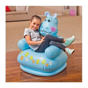Sillón Silla Puff Inflable Intex Niños Hipopótamo Juegos