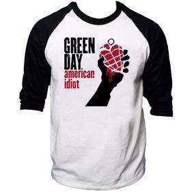 Camisa Raglan 3/4 Green Day American Idiot Rock Camiseta Joe