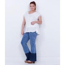 Calça Jeans Flare Moda Grande Plus Size 54