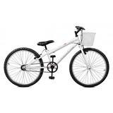 Bicicleta Aro 24 Branco Feminina S/marchas - Master Bike