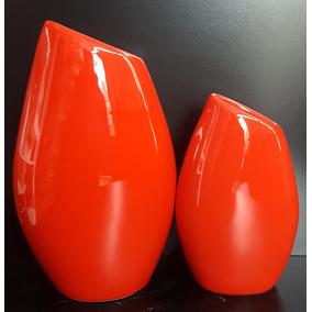 Florero Gota Grande Ceramica Esmaltada- Decoracion Del Hogar