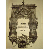 1849 Museo Niños V3 Hist. Biblicas Hermosos Grabados Raro!!!