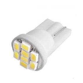 Lampada Pingo T10 8 Leds Super Branca Xenon Frete Econômico