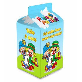 Kit Com 10 Caixa Milk Leite Sacolinha Surpresa