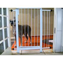 Grade Porta Portão Pet Criança Bebe Cão Vão 66 A 94cm Kit 25