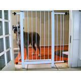 Grade Porta Portão Pet Criança Bebe Cão P/125 A 129cm Kit 60