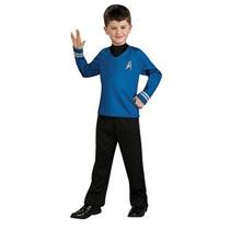 Disfraz Para Niño Traje Camisa Azul De Película De Star Tre