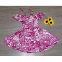 Vestido Infantil Verão Modelo Ciganinha