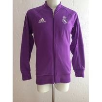 Chamarra Real Madrid Anthem Jacket Morada Visita 2017 Adidas