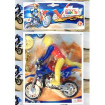 Juguete Muñeco Motocross + Accesorios Excellent Motorcycle