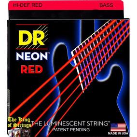 Encordoamento P/ Baixo De 5 Cordas Dr Neon - Vermelha .45