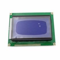 Display Gráfico Lcd 128x64 Azul P/ Pic Atmel Arduino