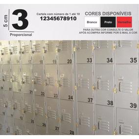 Cartela De Adesivo Numeros Ou Letras 5cm De 1 Até 50