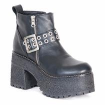 Bota Negra Mujer Nazaria Zapatos P112