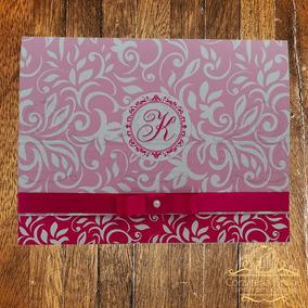 Kit 100 Convites 15 Anos Pink Com Foto Papel 240 Gr Embalado