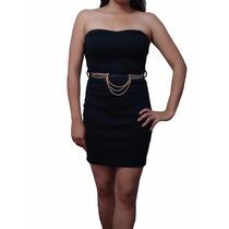 Sexy Vestido Strapless Elegante Incluye Cinturon Entrega Ya!