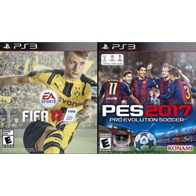 Fifa 17 + Pes 2017 Dual Pack Ps3 Latino