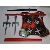 Kit Fantasia Tartaruga Ninja Dragão Mascara Kitana Samurai