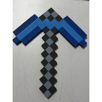 2 Duas Picareta Minecraft Em E.v.a 15mm Al 45cm L37cm