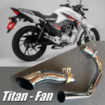 Escapamento Esportivo Fazer 150, Factor 125, Titan Mix, Fan