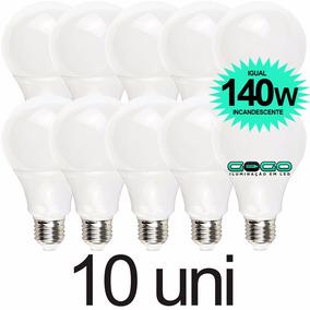 Kit 10 Lampada Bulbo Led 16w A60 Econômica Bivolt 3u 4u E27