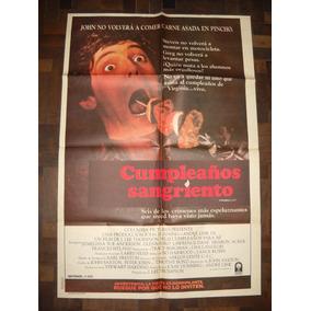 Afiche Cine Cumpleaños Sangriento Melissa Sue Anderson Terro