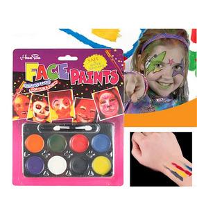 Kit Maquillaje Pinta Caritas 8 Colores Fiestas Y Eventos