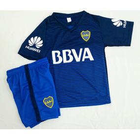 Nuevo! Conjunto Boca Alternativo Camiseta Short Niños Envío