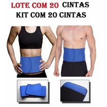 Kit Com 20 Cinta Abdominal Neoprene Unisex Modelador Redutor