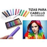 Tizas Para El Cabello De 12 Colores
