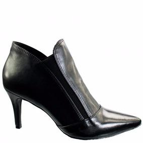 Bota Ankle Boot Feminina Luz Da Lua Milano Couro S61211