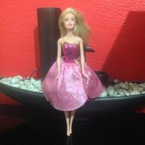 Muñeca Barbie Escuela Princesas Vestido Rosa Diamante Usada