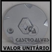 Calota Tampa Miolo Roda Renault Clio Privilege Prata Aro 14