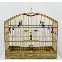 Gaiola Torneio Pássaros Coleirinha Coleiro Marchetaria Cravi