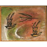 Carlos Rodal Pintura Acrilico Torres Y Avion 1992