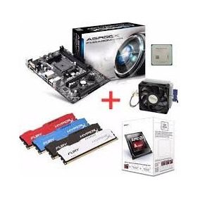 Kit Asrock Fm2a68m-hd+ Processador Amd A4 4000 3.2ghz + 4gb