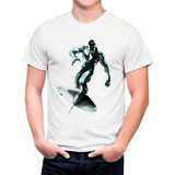 Camiseta Branca O Surfista Prateado Comics 552