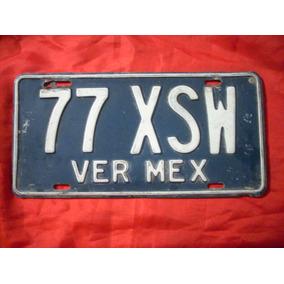Antigua Placa De Carro Procedente De Veracruz